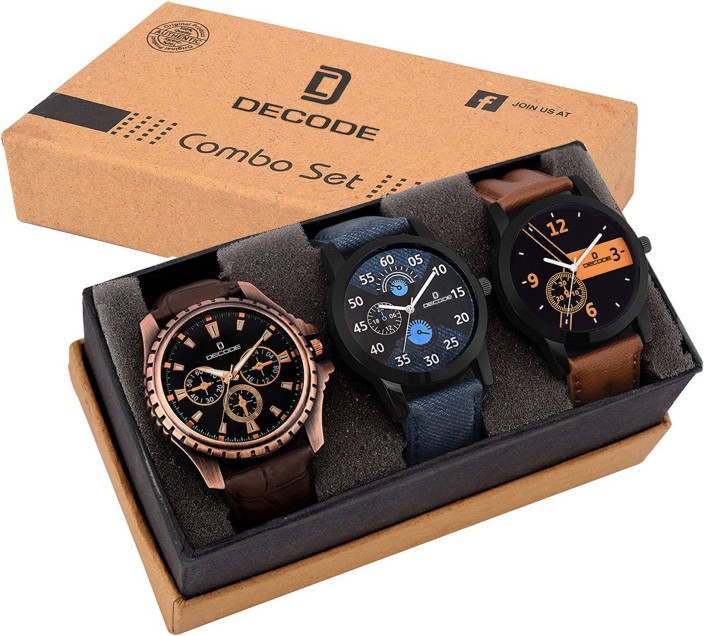 decode combo of 3 exclusive watches watch for men