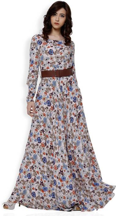 7e8028ff0c2 Tokyo Talkies Women Maxi Beige Dress - Buy Tokyo Talkies Women Maxi Beige  Dress Online at Best Prices in India