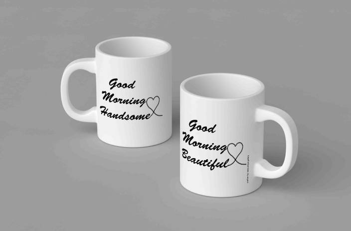 Unique Gallery Good Morning Couple Ceramic Mug Price In India Buy