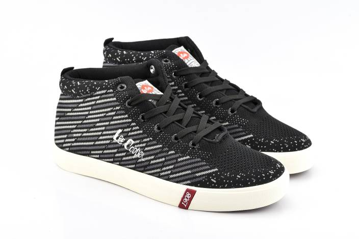 Lee Cooper Canvas Mid Ankle Sneakers For Men