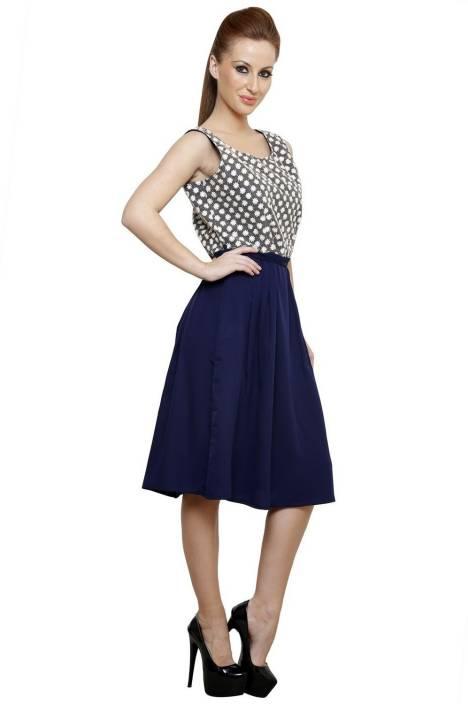 Vastrasutra Women's A-line Blue Dress
