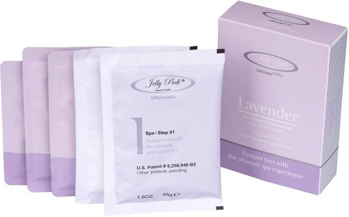 66cee2bb9356 Allur Jelly Pedi Ultimate   Lavender Spa Pedicure 5 Step Box - Pack of 1  (45 g