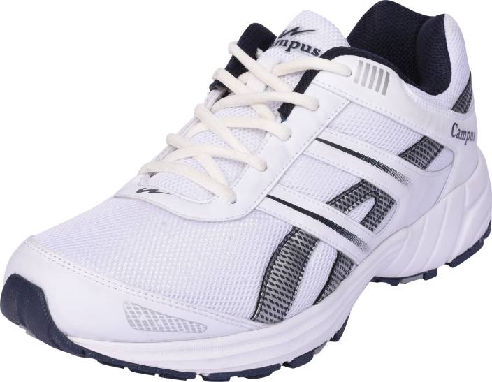 check out ac4e3 a64dd Campus TROY Running Shoes For Men (White)
