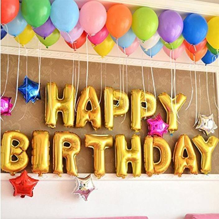 Flipkart Com Party Propz Solid Happy Birthday Decoration Foil