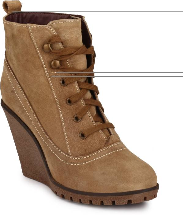 7313beac8b2 Delize Synthetic Boots For Women - Buy TAN Color Delize Synthetic ...