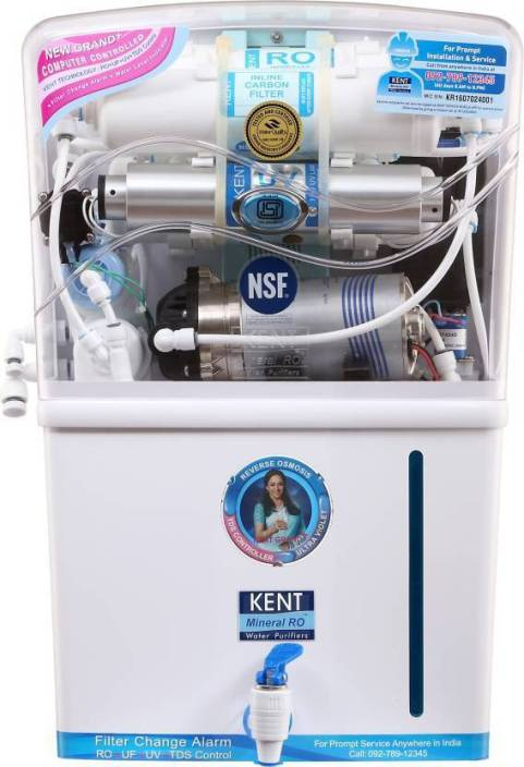 0cd3bd417d5 Kent Grand Plus Litre 8 L RO + UV + UF Water Purifier - Kent ...