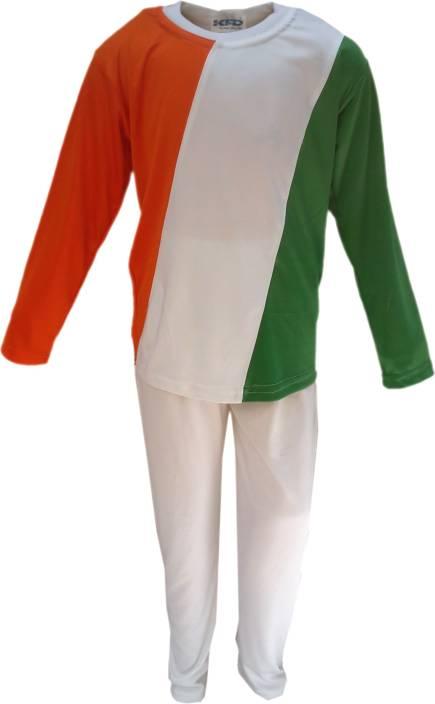 89025afbb Kaku Fancy Dresses Tri Color Track Suit fancy dress for kids,Western Costume  for Annual