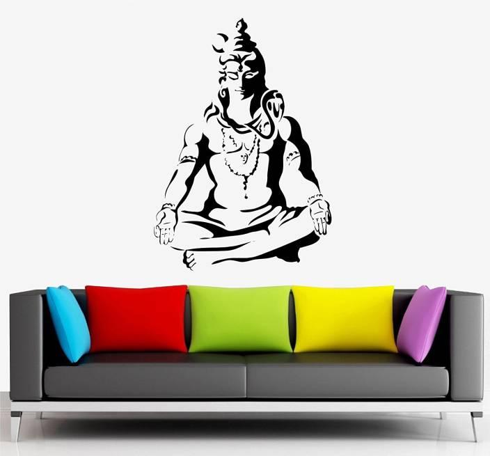 8351e3ff1 Asmi Collections Medium Meditating God Shiva Sticker Price in India ...