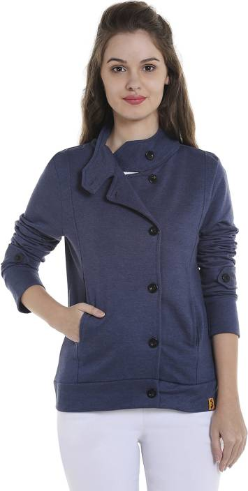 Campus Sutra Full Sleeve Solid Women's NA Jacket