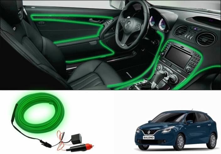 Speedwav Car Interior Ambient Wire Decorative Led Light For Maruti