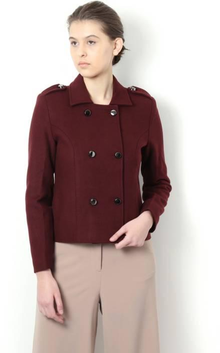 Van Heusen Full Sleeve Solid Women Jacket