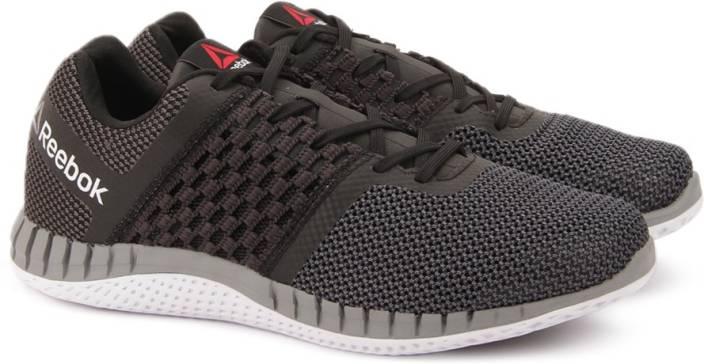 a24e0fe7baff86 REEBOK ZPRINT RUN Running Shoes For Men - Buy BLACK GRVL GRY BLK ...