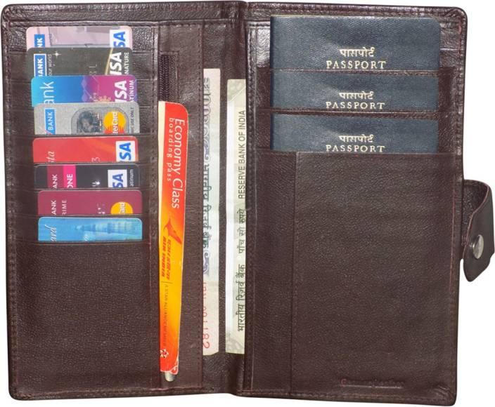 b48da60552aa Kan Premium Quality Leather Travel Document Holder/Card Holder/Passport  wallet/Cheque Book Pouch/Wrist Wallet for Men & Women