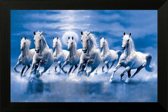 Saf Seven Horses Ink 14 Inch X 20 Inch Painting Price In India Buy