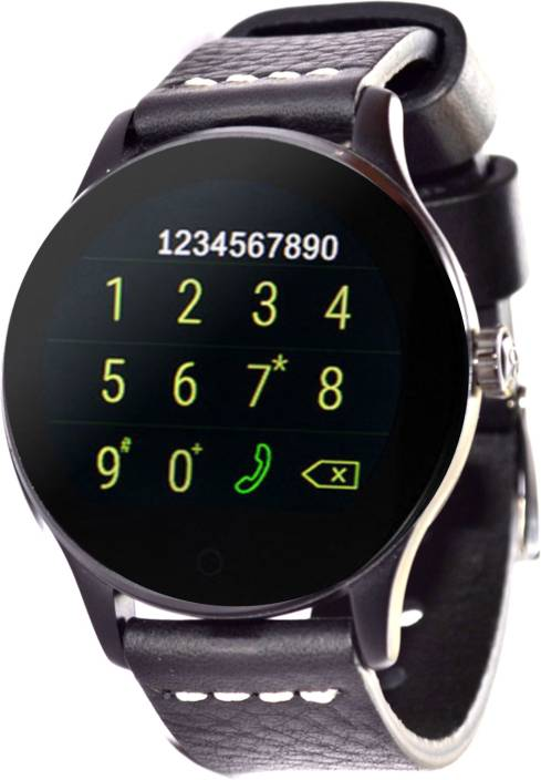 debaa241af55 WatchOut Wearables Wild Black Panther With Heart Rate Monitor Smartwatch ( Black Strap Regular)
