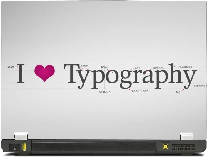 PosterMart Typography Graphics Laptop Skin Type 3 - High