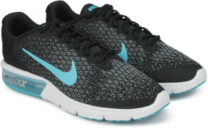 nike air max sequent 2 running shoes for men buy black chlorine blue anthracite cool grey. Black Bedroom Furniture Sets. Home Design Ideas