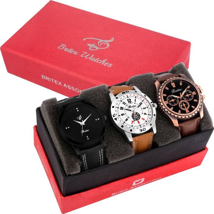 Britex BT6152_3106_6152 Margarita~ Pack of 3 Watch  - For Men