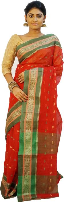 Rudrakshhh Embroidered Tant Handloom Cotton Saree