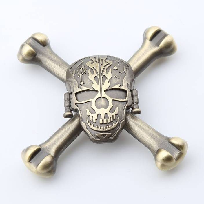 Montez High Speed Metal Skull Fidget Spinner Toy (Multicolor)