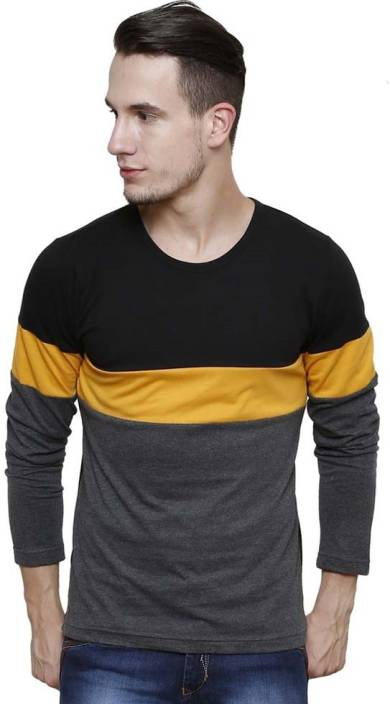 Urbano Fashion Solid Men's Round Neck Black T-Shirt