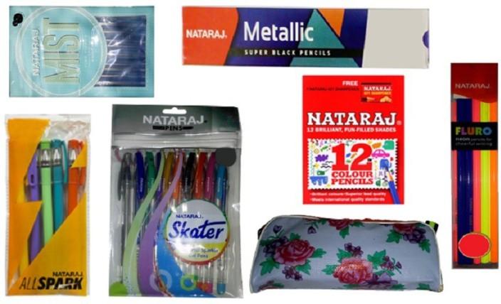 30x Nataraj Fluro Rubber Tipped Super Dark Neon Pencil school home kids writing