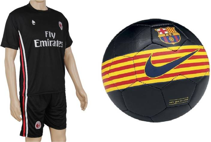 062881f1dd6 Retail World Barca Black Ball with Suit (Jersey + Shorts) Football Kit - Buy  Retail World Barca Black Ball with Suit (Jersey + Shorts) Football Kit  Online ...