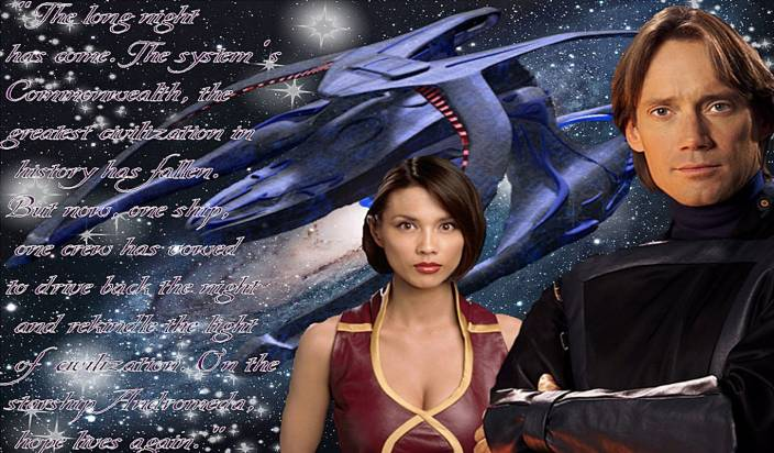 Tv Show Andromeda Space Fantasy Hd Wall Poster Paper Print 12 Inch X 18 Inch Rolled
