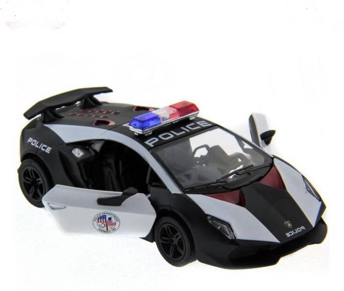 Kinsmart 5 Die Cast Metal Lamborghini Sesto Elemento Police Car