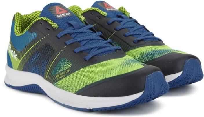 14293a9cc7fe REEBOK QUICK WIN Running Shoes For Men - Buy YELLOW BLUE NAVY WHT ...