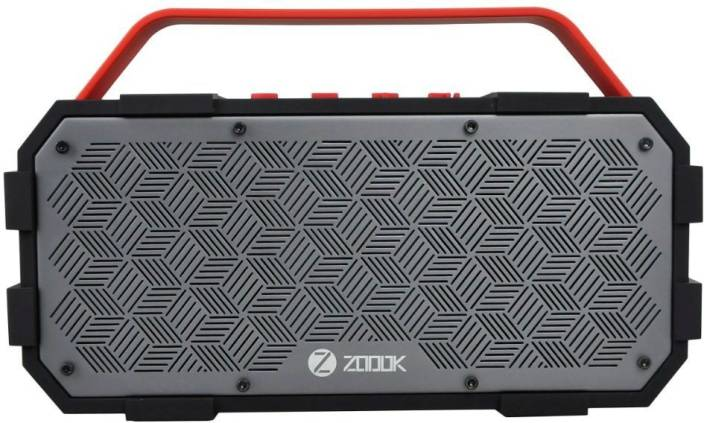 Zoook zb rocker torpedo 50 W Portable Bluetooth Speaker   Red, Grey, Stereo Channel  Zoook Speakers