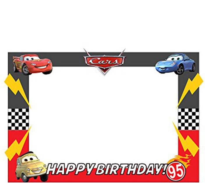 Party Propz Multicolor Car Birthday Decorationphotobooth Frame 2ft
