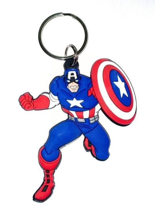 Skywalk Avengers Captain America Rubber Keychain Key Chain Price in India -  Buy Skywalk Avengers Captain America Rubber Keychain Key Chain online at ... 2f09967755