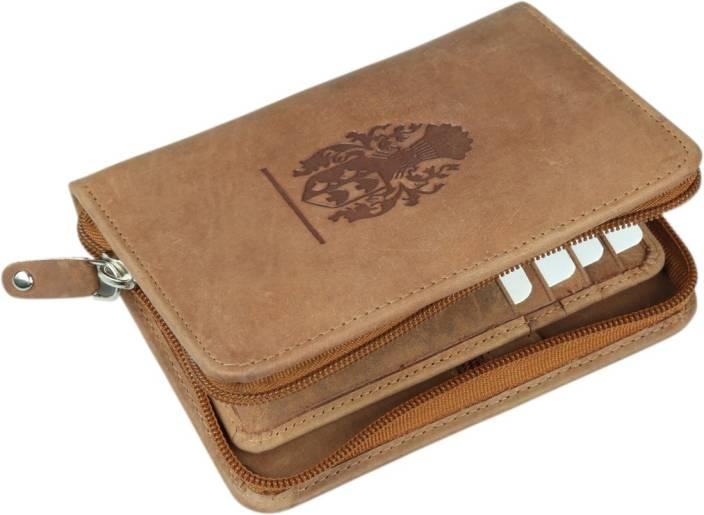 98b063426c61 Kan Hunter Leather Travel Document Holder/Card Holder/Passport Holder with  Zip closure