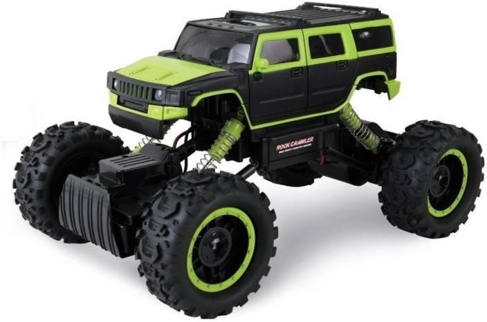 3aaedf9f8ddb Kris toy Road Rock Crawler Kids Remote Control Monster Truck Car (Black  Green)
