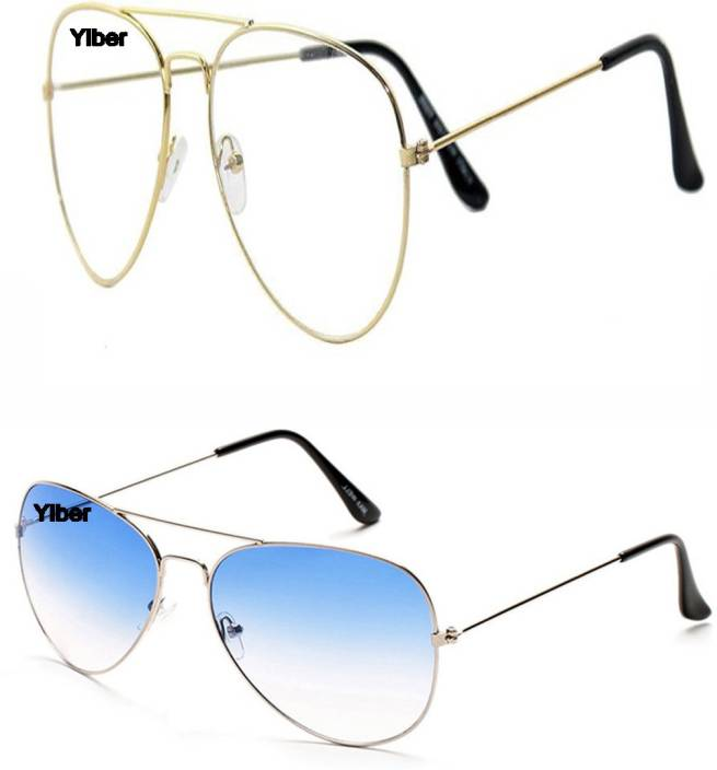 e440ee46778 Buy Ylber Aviator Sunglasses Clear