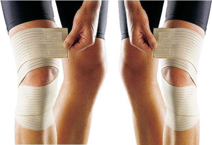 5684cf3bfe KING FITNESS KNEE WRAPS (SET OF 2) FOR WEIGHT LIFTING, KNEE PAINS,  ARTHRITIS, SWELLING Knee Support (Free Size, Beige) - Buy KING FITNESS KNEE  WRAPS (SET OF ...
