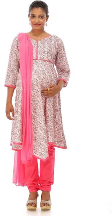1ccbdde1a61f4 Ziva Maternity Wear Printed Kurta & Churidar - Buy Ziva Maternity ...