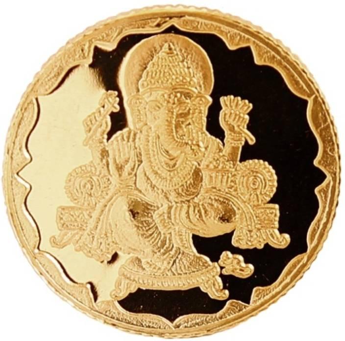 Bangalore Refinery 1 Gram Ganesh 24 (999) K 1 g Gold Coin