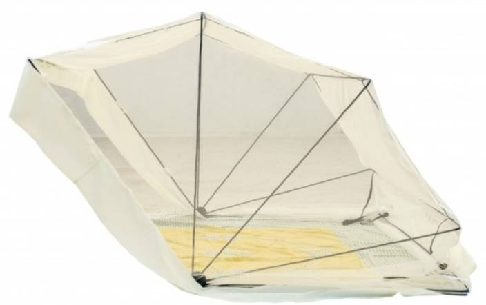 Comfort Mosquito Net Polyester Adults 4 Ft X 6.5 Ft Double Size In Cream Colour Mosquito Net