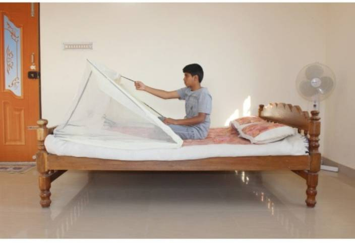 Comfort Mosquito Net Polyester Adults 2.5 Ft X 6.5 Ft Single Size In Cream Colour Mosquito Net