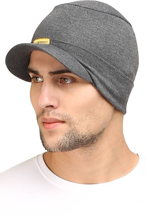 3d90e552126 FabSeasons Solid Skull Cap Cap - Buy Charcoal Gray FabSeasons Solid Skull  Cap Cap Online at Best Prices in India