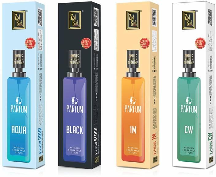 Zed Black Parfum Premium Fragrance Incense Sticks (pack of 4) Suitable For Everyday Use – Alluring Fragrance Sticks Aqua, Black, 1M, CW Agarbattis