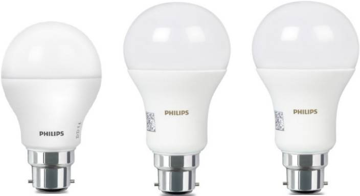 Philips 16 W 9 Standard B22 Led Bulb White Pack Of 3