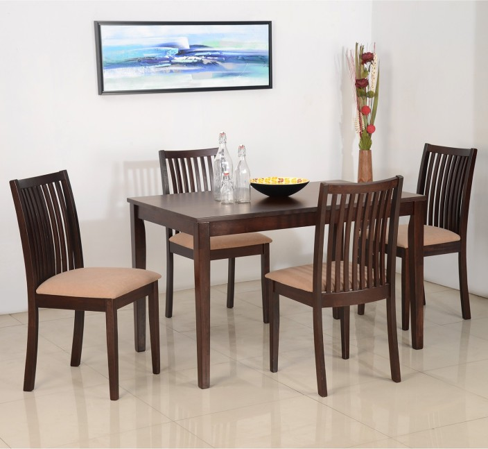 Nilkamal Berry Solid Wood 4 Seater Dining Set