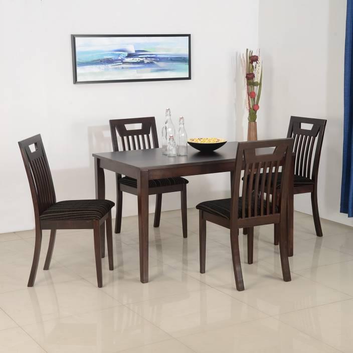 b504e08ec2 Nilkamal Lexus Solid Wood 4 Seater Dining Set (Finish Color - Espresso)