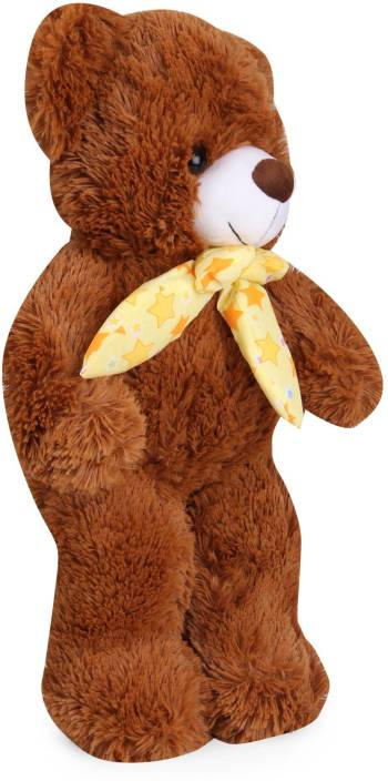 Starwalk Dark Brown Bear Plush with Heart Printed Scarf 50 cm  - 50 cm