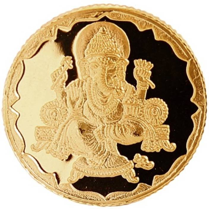 Bangalore Refinery Ganesh 24 (999) K 4 g Yellow Gold Coin