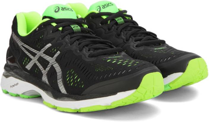 1869580eb663 Asics GEL-KAYANO 23 Running Shoe For Men - Buy BLACK SILVER SAFETY ...
