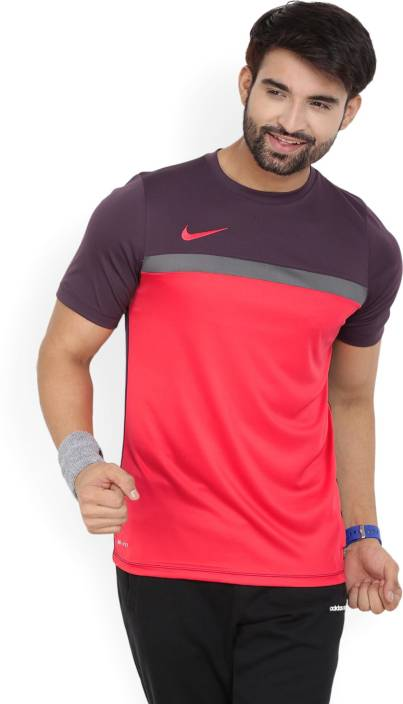 9b3cde20307d Nike Solid Men s Round Neck Red